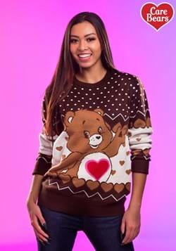 Tenderheart Bear Adult Care Bears Ugly Christmas Sweater