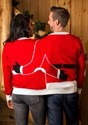 Two Person Mr. & Mrs. Claus Ugly Christmas Sweater Back