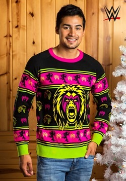 Adult's WWE Ultimate Warrior Ugly Christmas Sweater