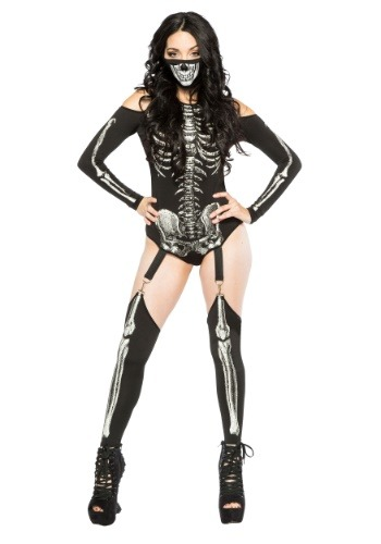 Skeleton Bodysuit Women's Costume