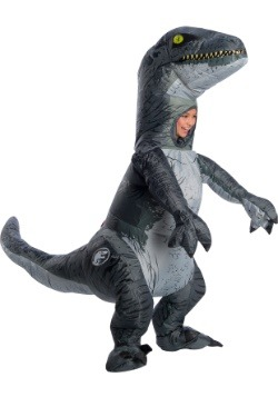 Child Jurassic World 2 Inflatable Blue Velociraptor Costume