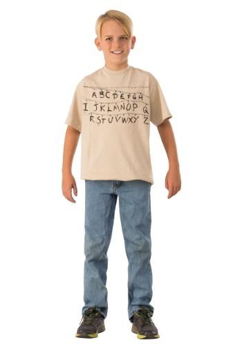 Child Stranger Things Alphabet Shirt