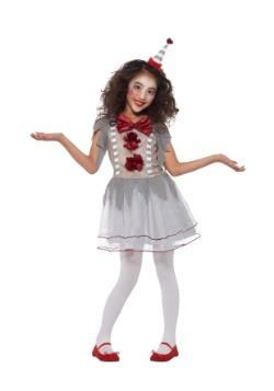 Girl's Vintage Clown Costume