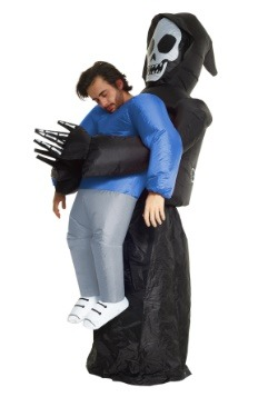 Adult Inflatable Grim Reaper Pick Me Up Costume