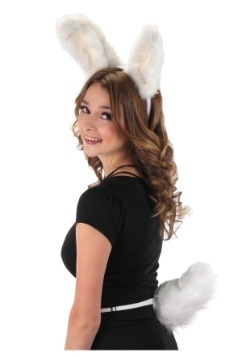 Deluxe White Bunny Tail