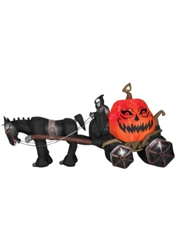 Inflatable Reaper & Carriage with Sound