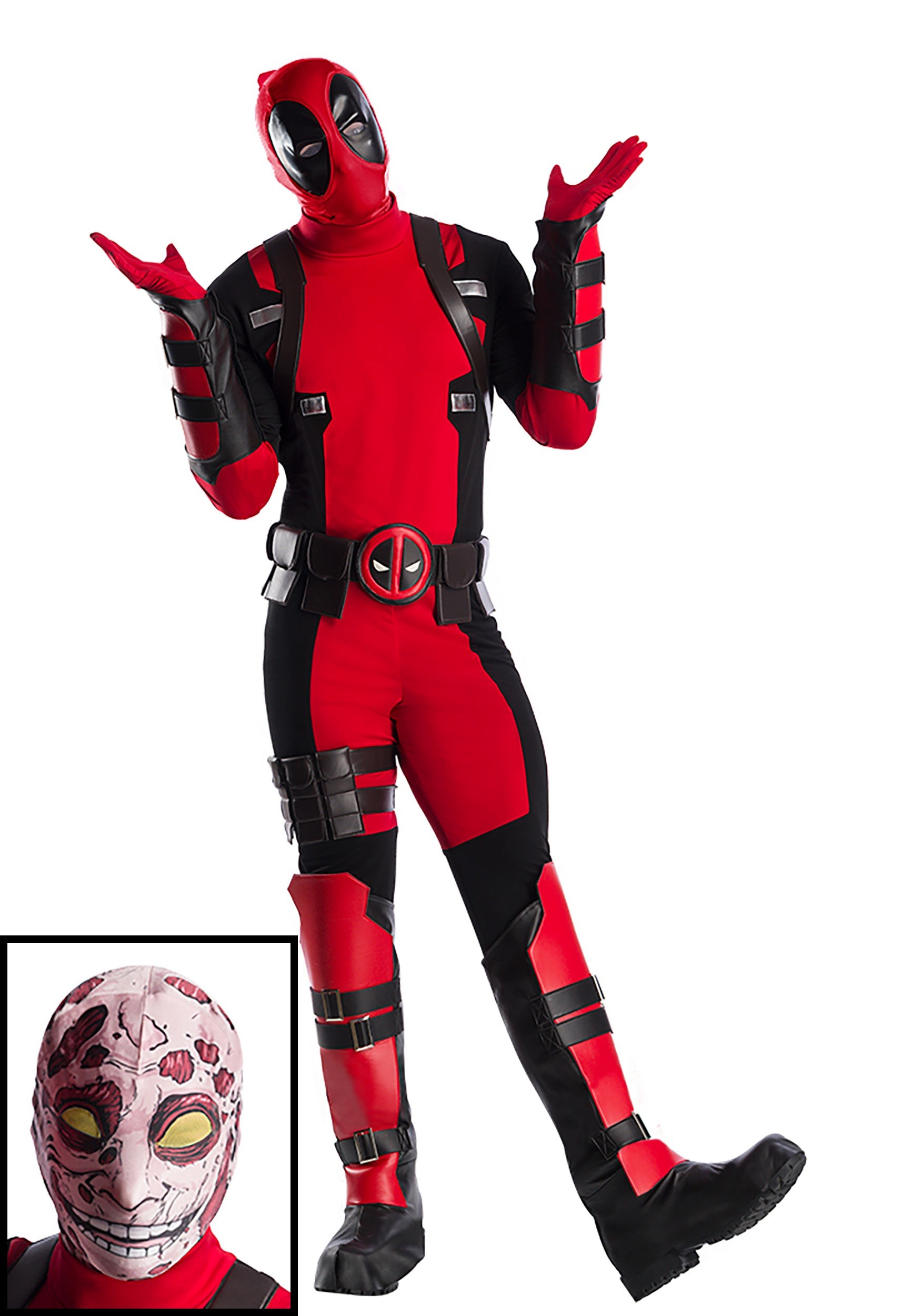 Premium Marvel Deadpool Plus Size Costume For Men