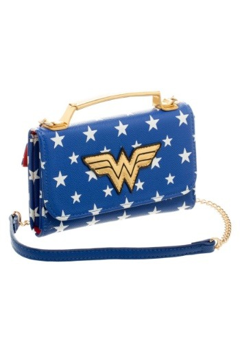 DC Comics Wonder Woman Inside Out Cross Body Wallet Clutch
