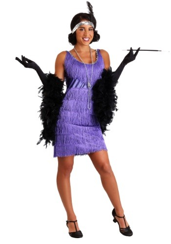 Fringe Purple Flapper Costume