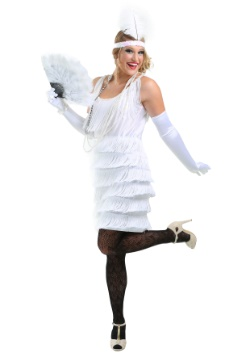 White Flapper Girl Costume