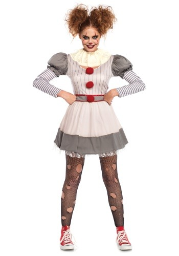 Women's Creepy Clown Costume