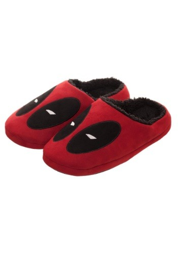 Adult Deadpool Red Scuff Slippers