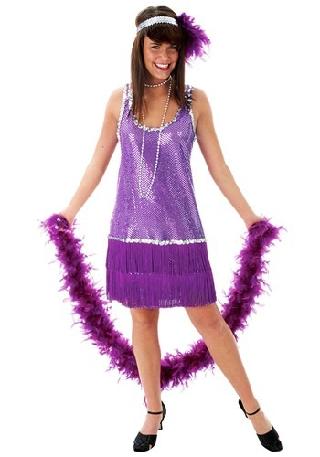 Purple Flapper Dress
