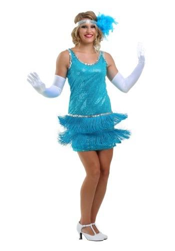 Sequin & Fringe Turquoise Flapper