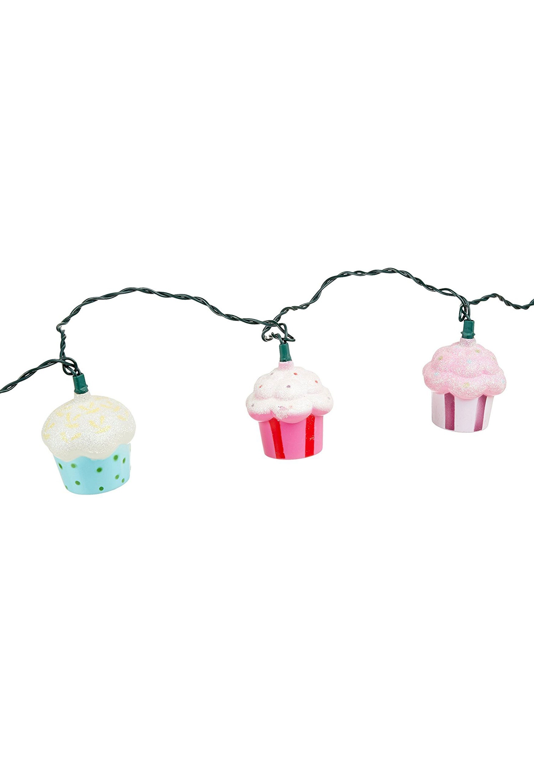 10 Piece Ultimate Brush Collection: 10-Piece Plastic Cupcake String Light Set