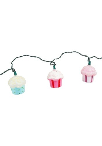 Plastic Cupcake 10-Piece String Light Set