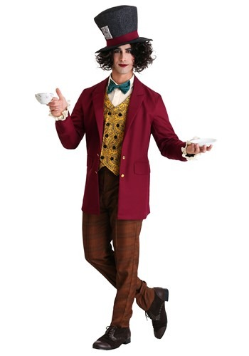 Mens Plus Size Mad Hatter Costume