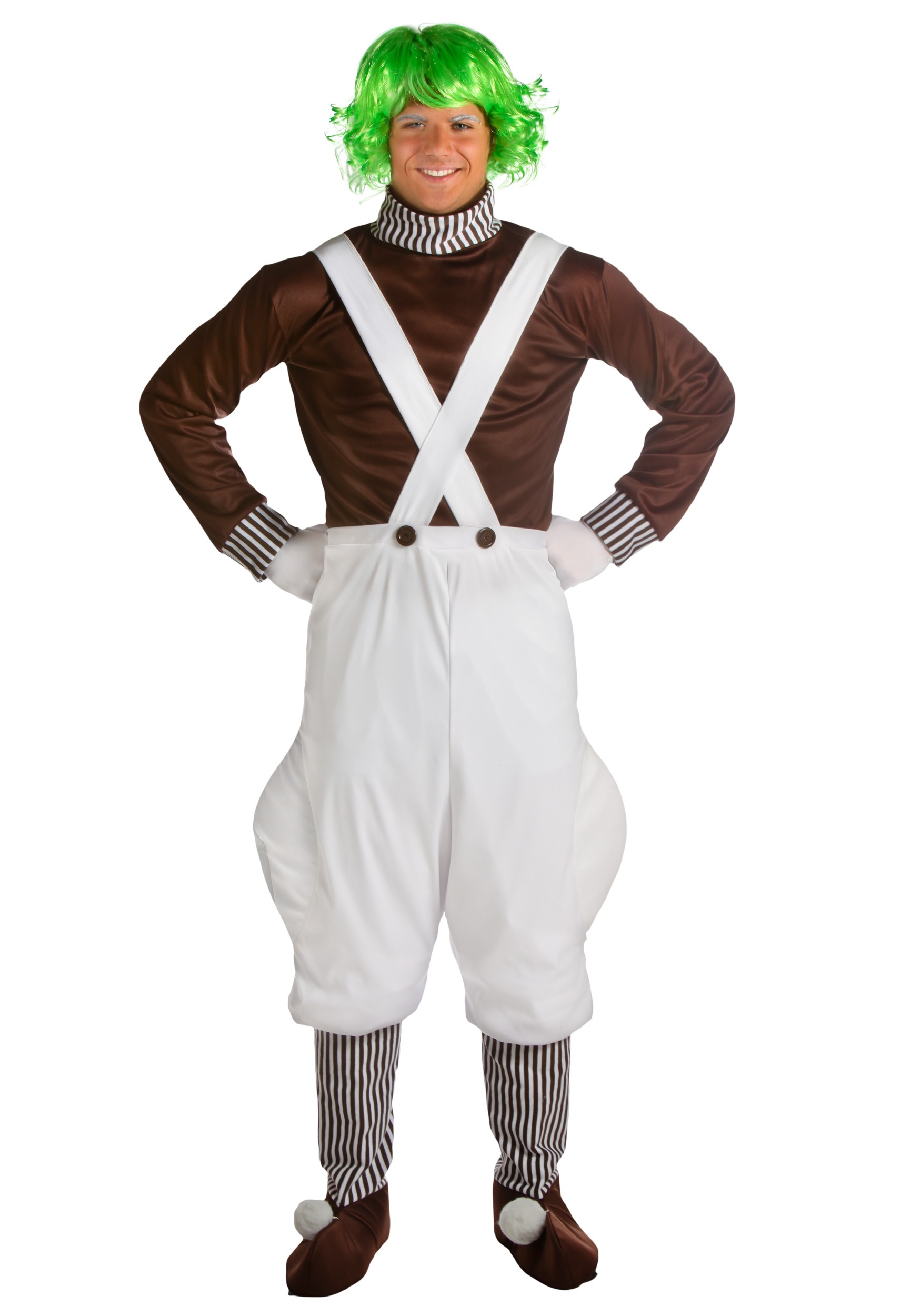 Elf Wig Green Oompa Loompa Willy Wonka Fancy Dress Halloween Costume Accessory