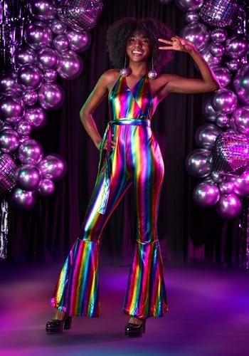 Women's Rainbow Rave Disco Costume