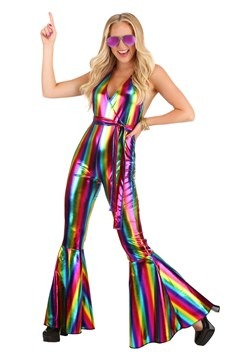Women's Rainbow Rave Disco Costume