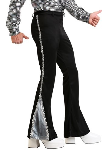 Mens Silver Sequin Disco Pants