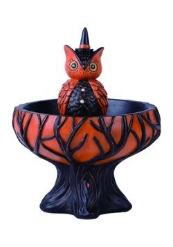 Resin Tree Owl Treat Stand Decor