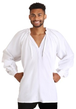 Plus Size White Peasant Shirt