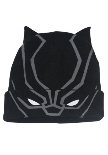 Adult's Black Panther Flip Down Knit Beanie