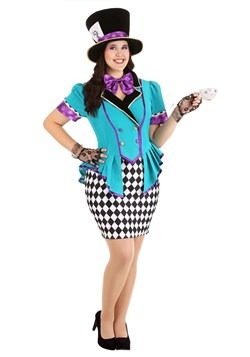 Plus Size Marvelously Mad Hatter Costume