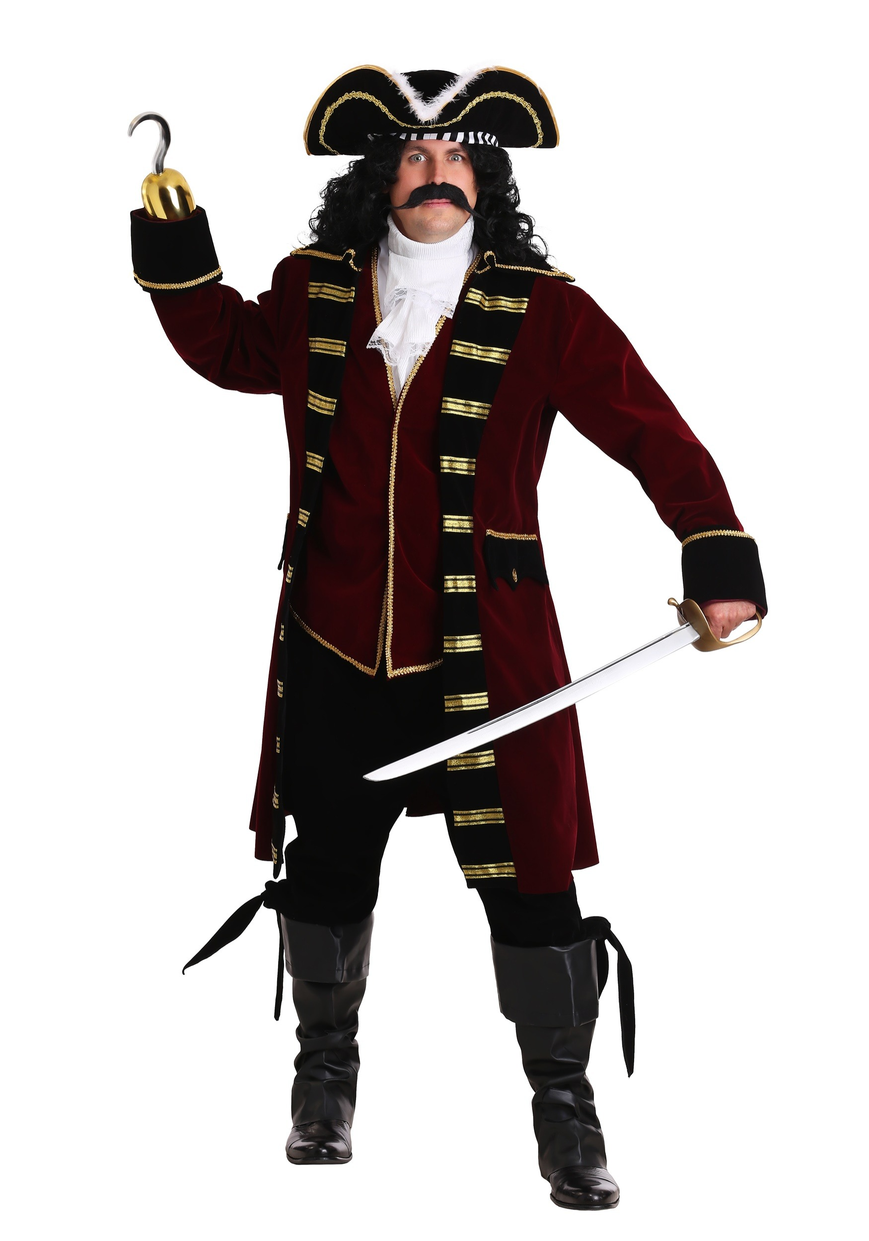 Plus Size Deluxe Captain Hook Costume Exclusive