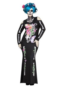 Women's Plus Size Beautiful Bones Costume