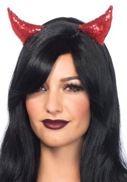 Sequin Devil Horns Headband