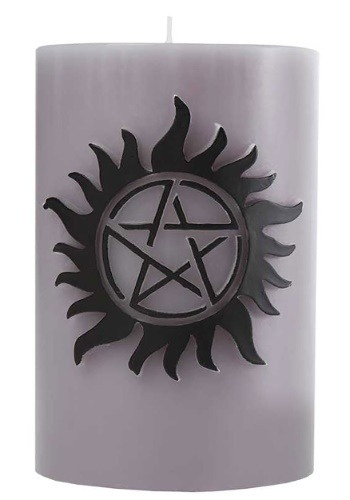 Supernatural Sculpted Insignia Themed Candle