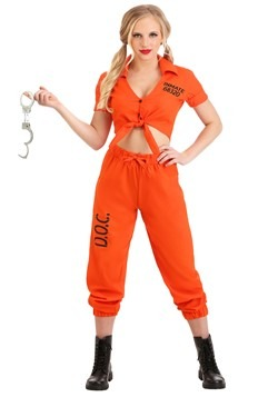 Orange Inmate Prisoner Costume Women's