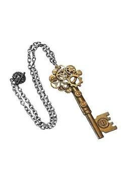Large Steampunk Key Gear Necklace1