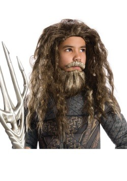 Child Aquaman Beard and Wig Set
