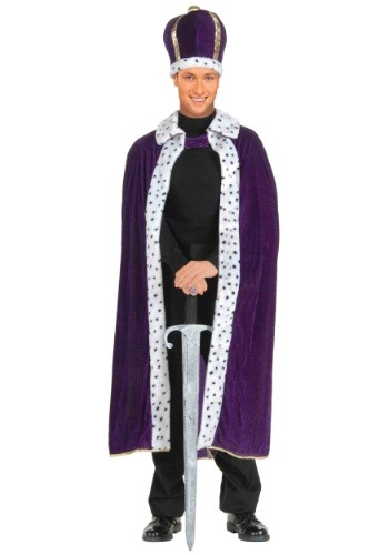 King's Purple Robe & Crown Set