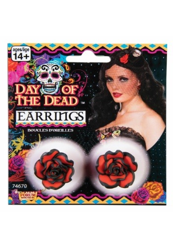 Day of the Dead Rose Earrings