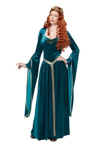 Women's Lady Guinevere Teal Costume