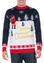Men's Tipsy Elves Yellow Snow Ugly Christmas Sweater