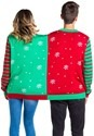 Naughty and Nice Two-Person Tipsy Elves Ugly Christmas sweat