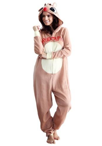 Women's Rudolph Pajama Costume