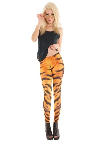 Adult Tiger Print Leggings