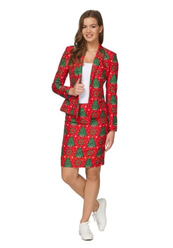 Womens Green Christmas Tree Suitmiester