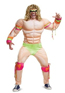 Mens WWE Ultimate Warrior Muscle Costume