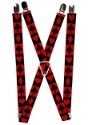 "Alice in Wonderland Card Suit 1"" Suspenders"