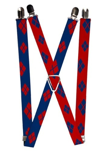 "Harley Quinn Blue/Red 1"" Suspenders"
