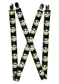 """Nightmare Before Christmas Jack Glow 1"""" Suspenders"""