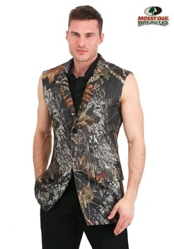 Mossy Oak Plus Size Sleeveless Tuxedo Jacket