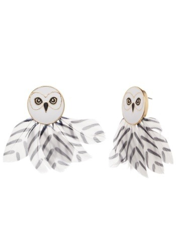 Womens Harry Potter Hedwig Feather Earrings